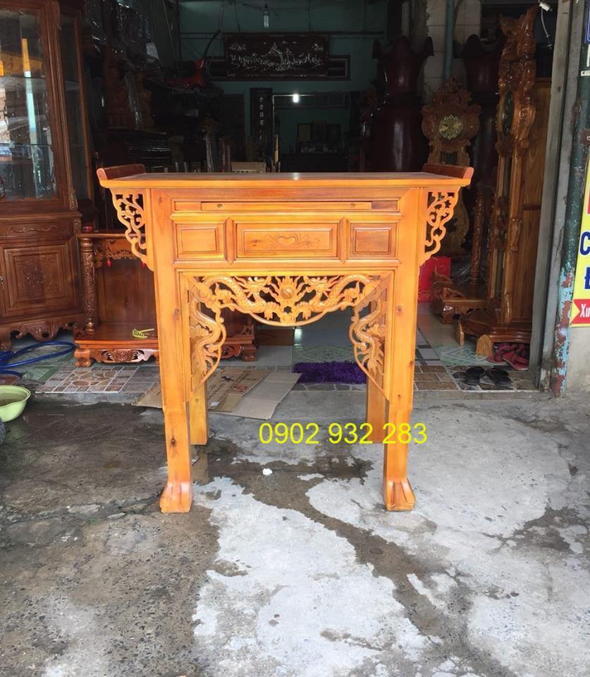 Bàn thờ 1 tầng gỗ tràm 1m07