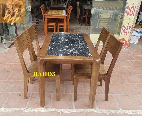 Bộ bàn ăn mặt đá 4 ghế