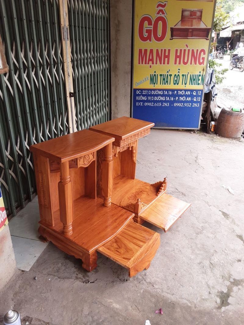Bàn thờ ông địa gỗ gõ đỏ ,mẫu hiện đại cho nhà phố nhà chung cư