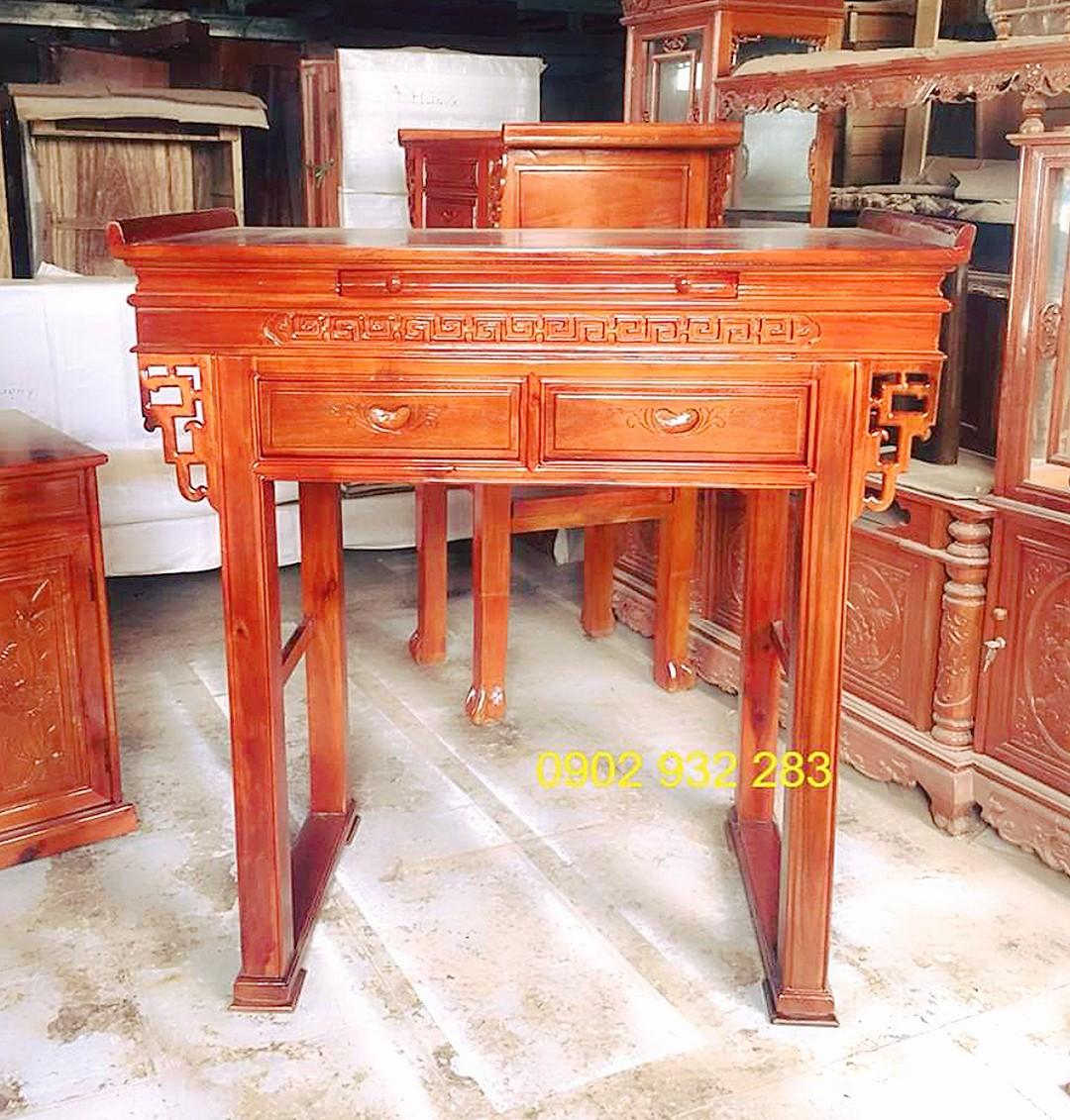 Bàn thờ 1 tầng gỗ gỗ đỏ 1m27