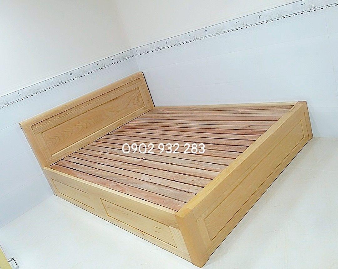Giường Ngủ Gỗ Kiểu Hộp Cao 30cm