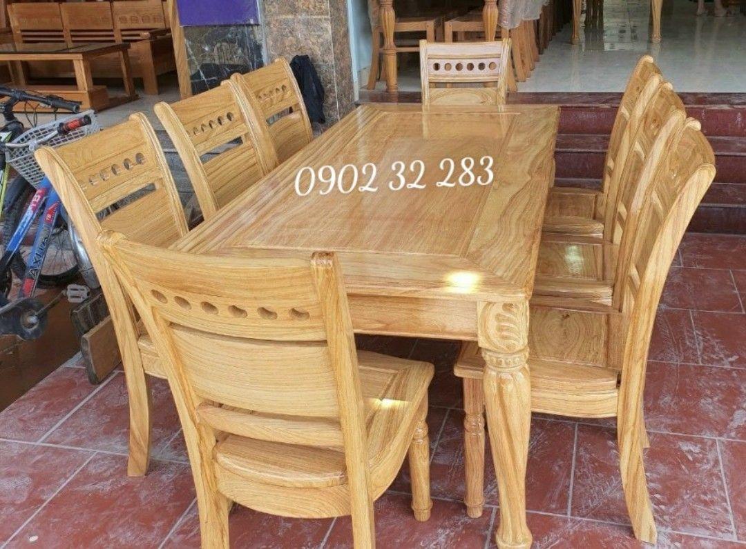 Bộ bàn ăn gỗ gõ đỏ 6 ghế G01