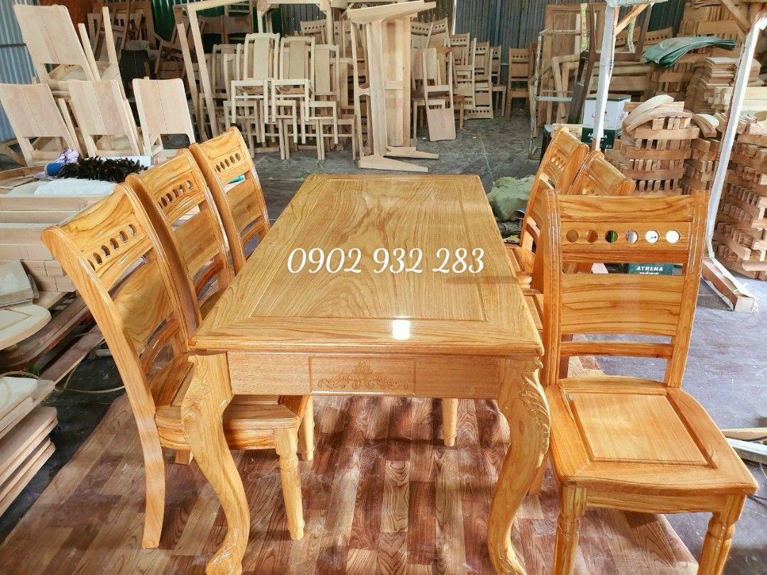 Bộ bàn ăn gỗ gõ đỏ 6 ghế G03
