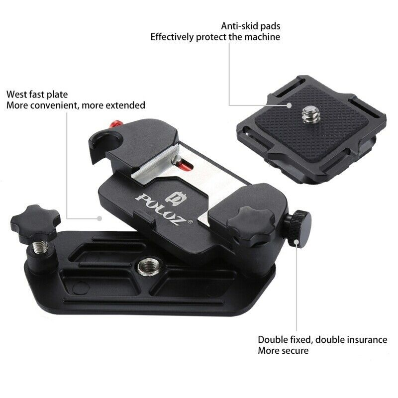PULUZ Capture Camera Belt Clip Quick Release Clip with Plate