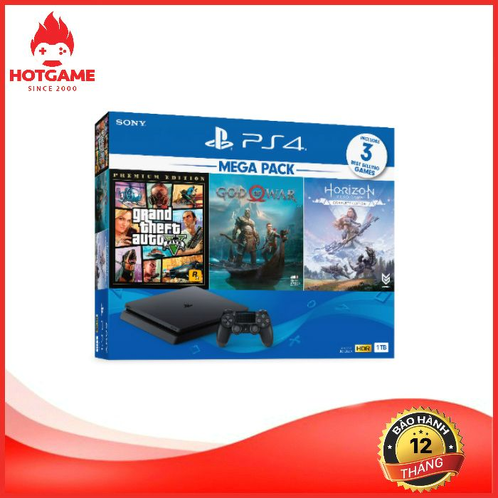 Máy PS4 slim Mega pack 2