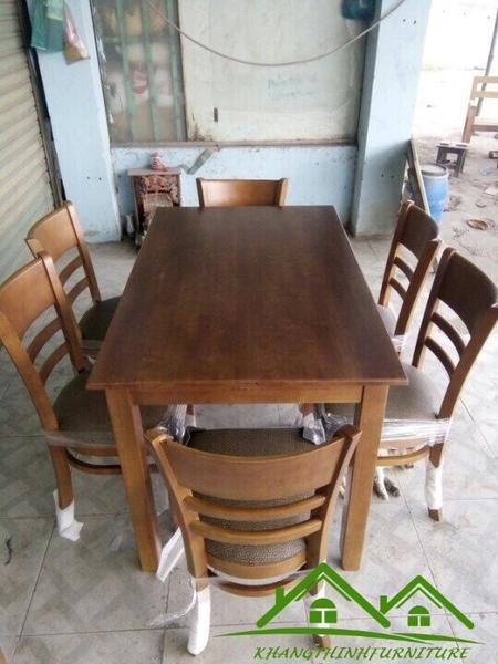 Bộ bàn ghế gỗ quán ăn KT-54