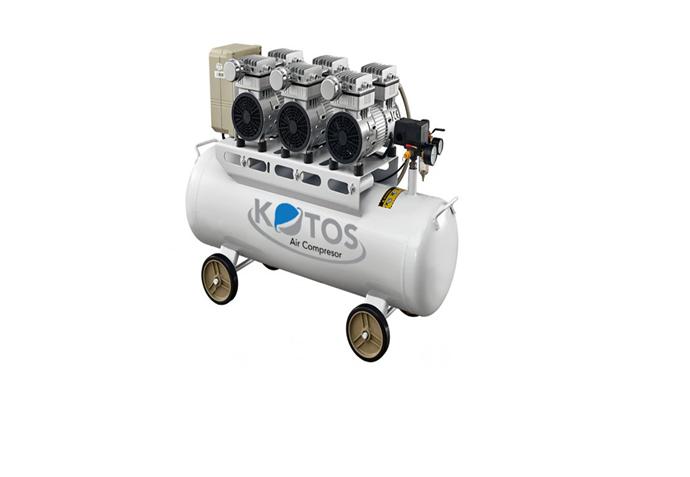 máy nén không dầu HD750*3 -70L