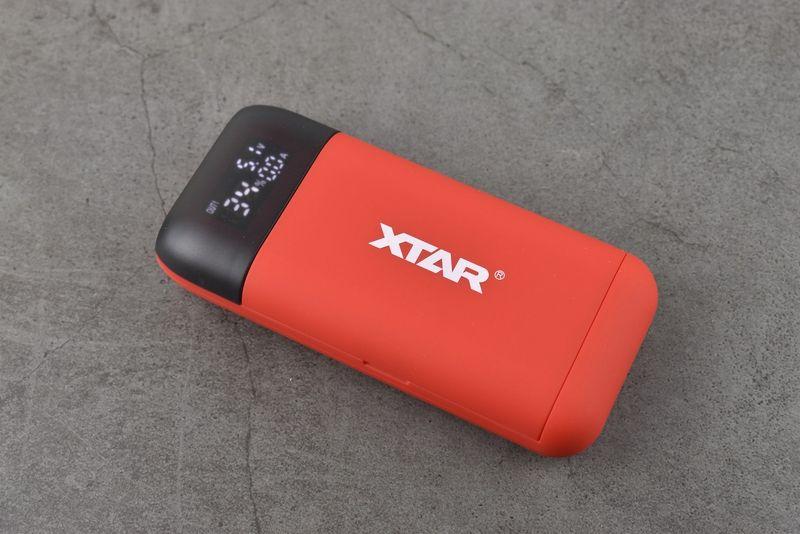 Sạc pin Xtar - PB2S Đỏ - Tích hợp tính năng sạc dự phòng (Màu đỏ)