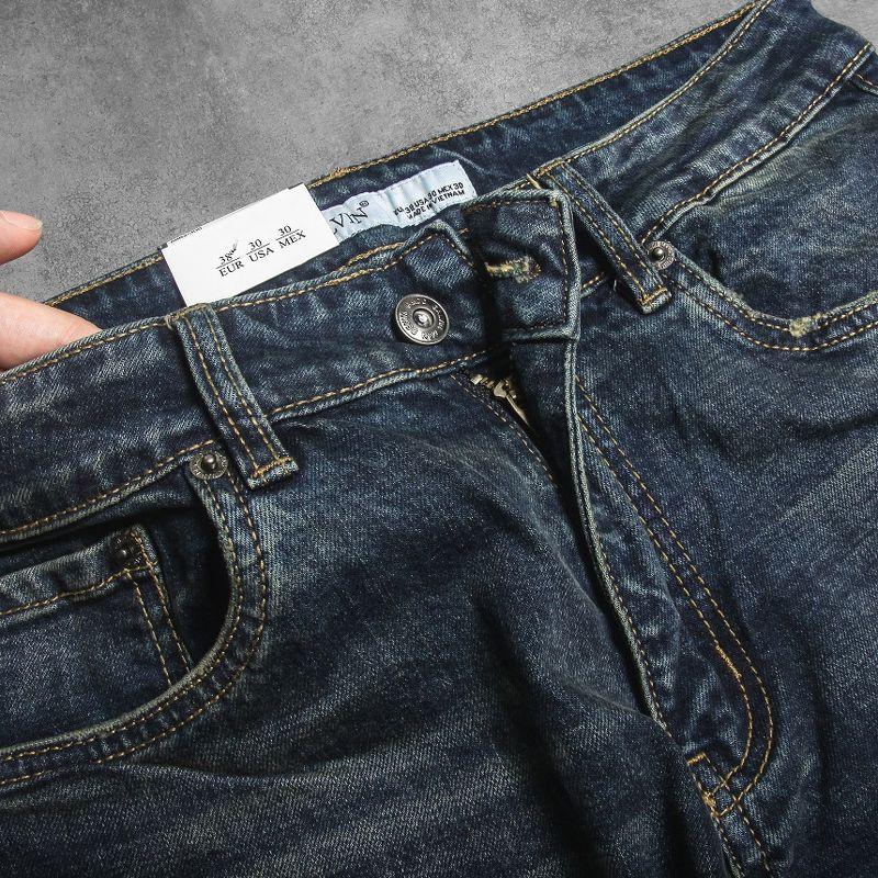 Jeans Galvin Xanh wash Rêu
