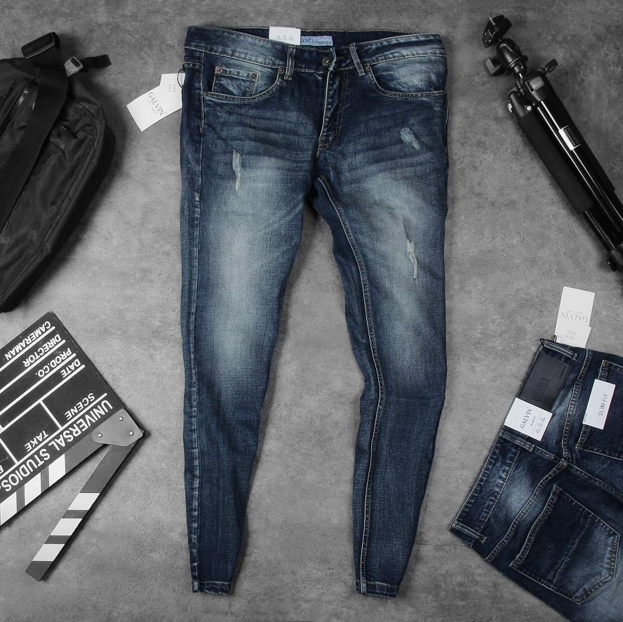 Jeans Galvin Xám xước