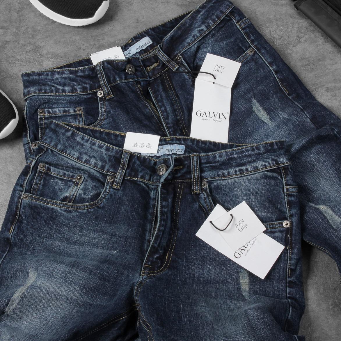 Jeans Galvin 9 Xanh than rách