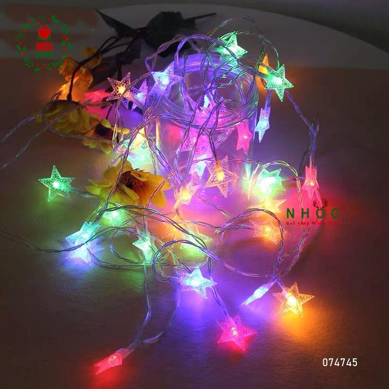 Dây đèn chớp kiểu ngôi sao dây - Trắng 18 bóng - 27040