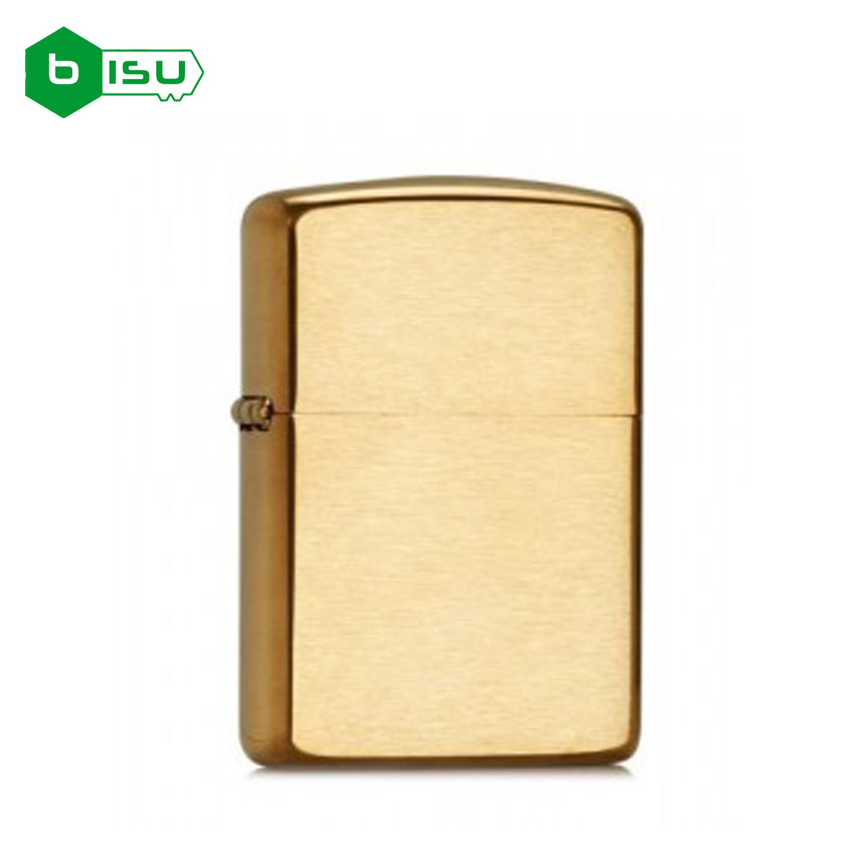 Zippo 204B - Vỏ Đồng Xước (Brushed Finish Solid Brass Pocket Lighter)