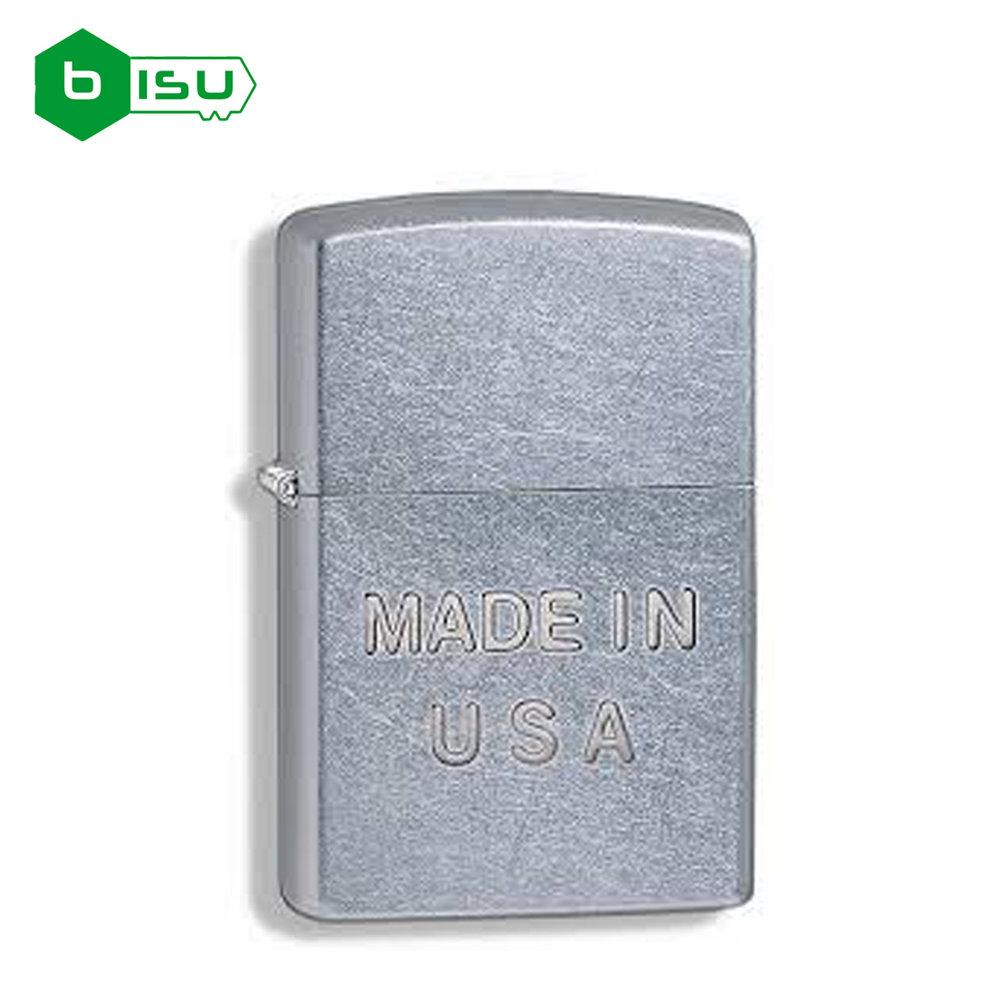 Zippo 28491 - Vỏ Chrome xước lần Chữ Made in USA (Made in the USA Stamp Street Chrome)