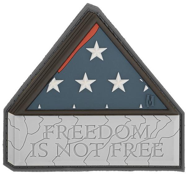 Maxpedition - Phù hiệu Freedom is not Free ( Tự do - Bản SWAT Ghi xám - Cao su PVC 3' x 2.8') FINFS