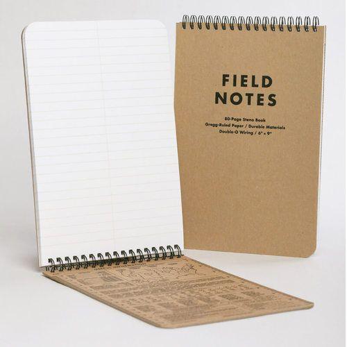 (01 quyển) Sổ FieldNotes - STENO (FN-07 Tốc ký Kẻ ngang - 80 trang - Bìa giấy nâu - Kích thước 15cmx