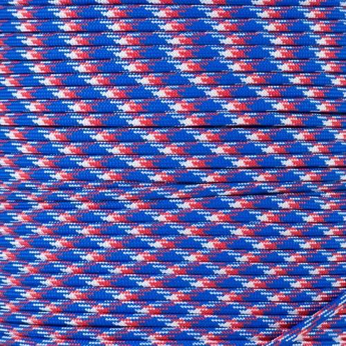 Dây Paracord - Màu Đỏ Trắng Xanh rằn ri (Red White Blue Camo - RWBC.550)