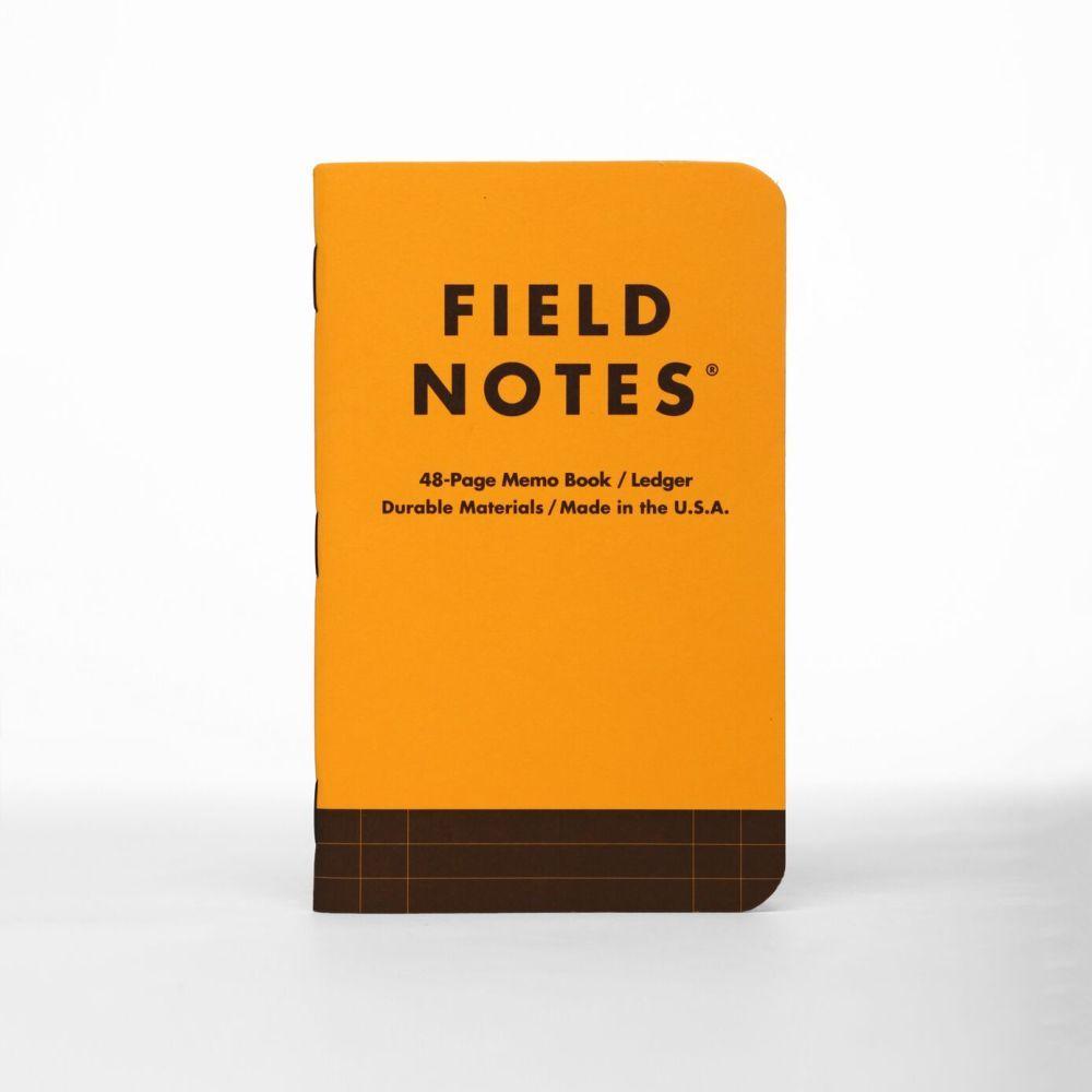 (01 quyển) Sổ FieldNotes - Utility Ledger (FNC-34B Sổ ghi chú - Bìa vàng nâu - 48 trang - Kích thước