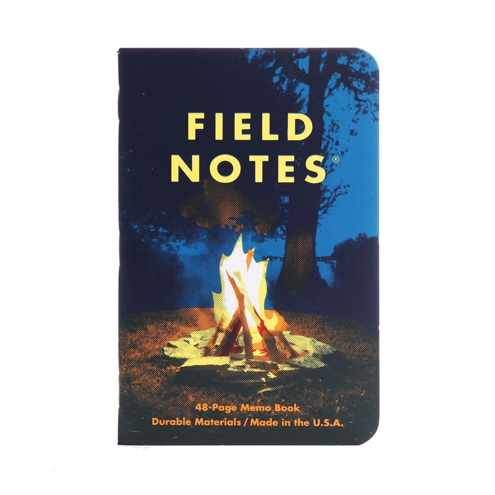 (01 quyển) Sổ FieldNotes - Campfire (FNC-35 Kẻ Caro - Bìa Lửa trại - 48 trang - Kích thước 9cmx 14cm