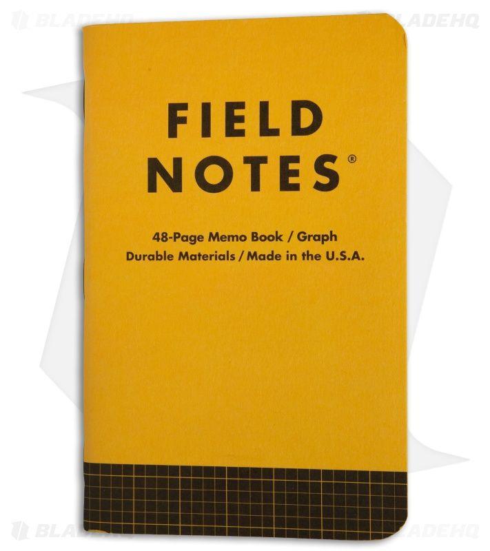 (01 quyển) Sổ FieldNotes - Utility Graph (FNC-34A Kẻ caro - Bìa vàng nâu - 48 trang - Kích thước 9cm