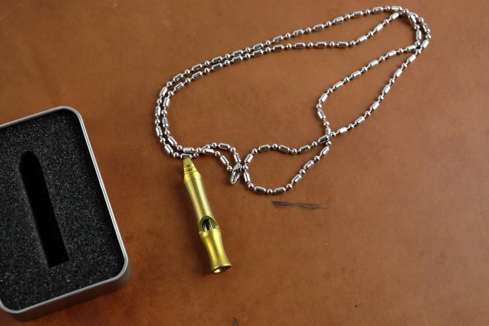 TACRAY - Còi titanium đơn mạ anod vàng (KS1601)