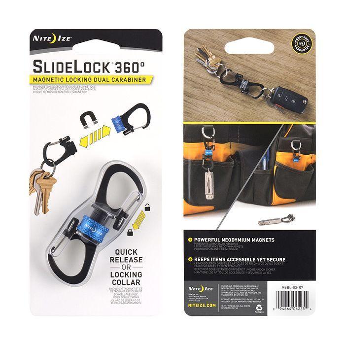 Nite Ize - Móc khóa MSBL-03-R7 Slidelock 360