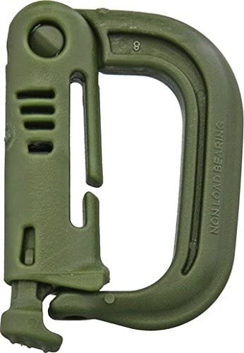 ITW- Carabiner cài molle GrimLOC Green made in USA ( màu xanh lá )