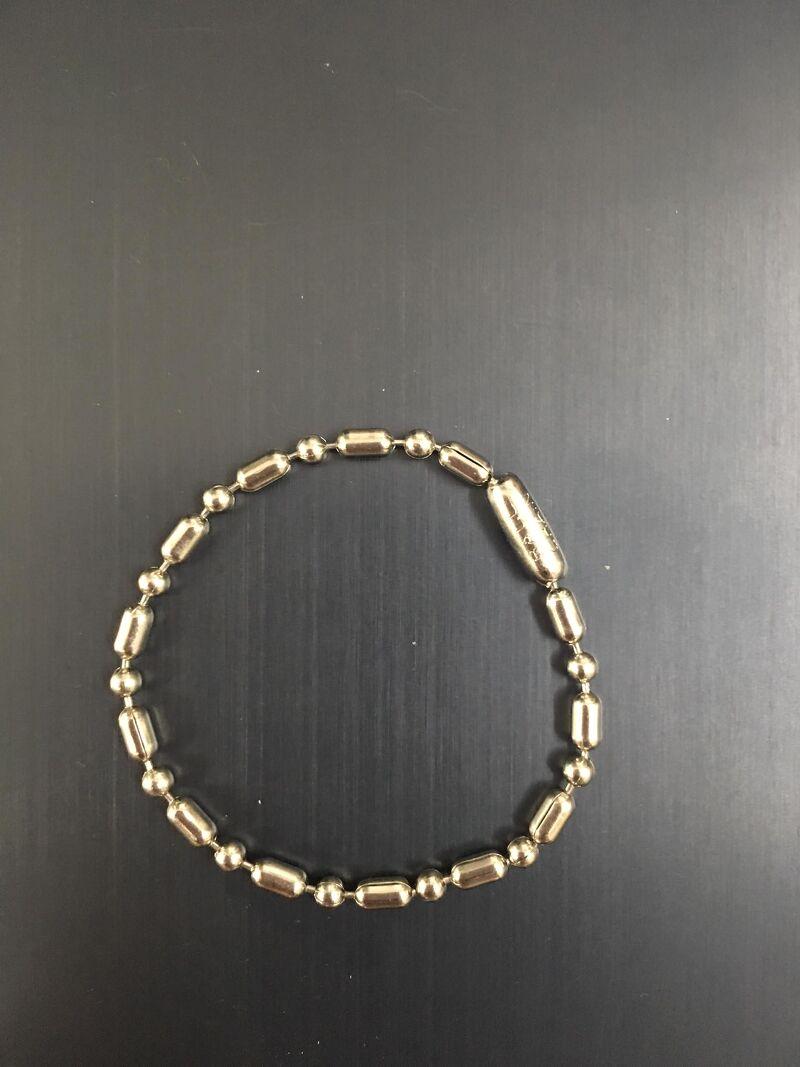 Phụ kiện DogTag - Dây bi 12cm chia KHÚC màu trắng có khóa chốt (Made in USA)