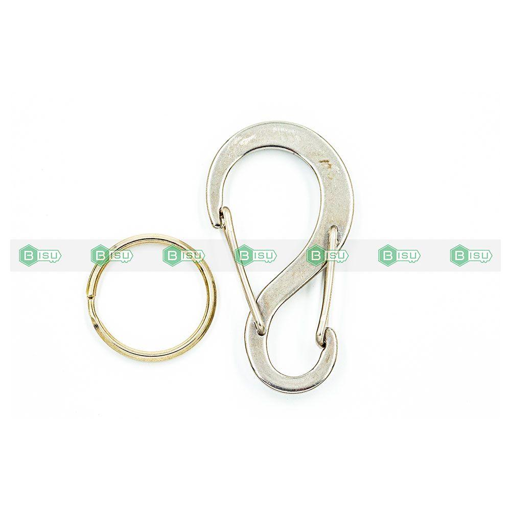 EDC - Móc khóa Swish clip 6cm ( chất liệu thép không rỉ)