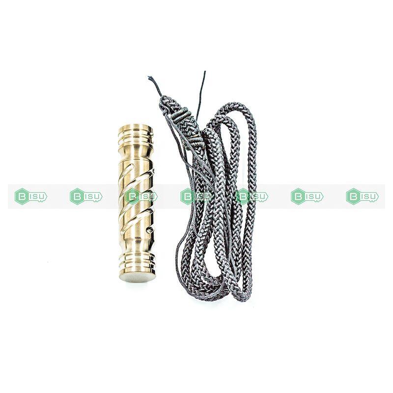 Móc Khóa EDC - Nhộng Titanium Capsule Silver (Rãnh Xoắn - T31/39 60*14mm)