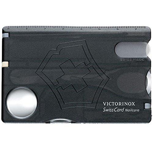 Thẻ đa năng Victorinox - SwissCard Nailcare Black Trans ( Đen trong )