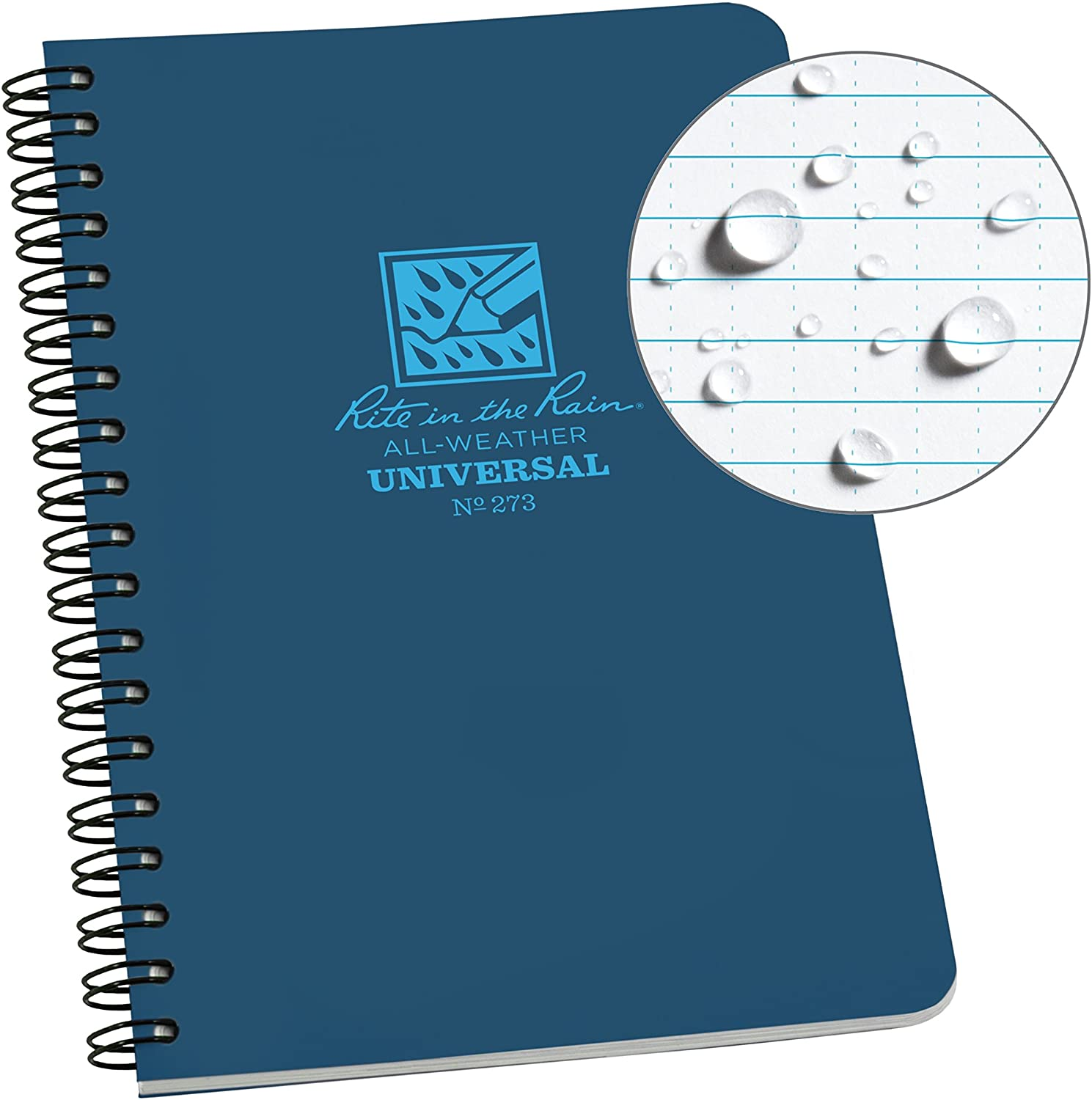 Rite in the Rain All-Weather Side-Spiral Notebook Blue