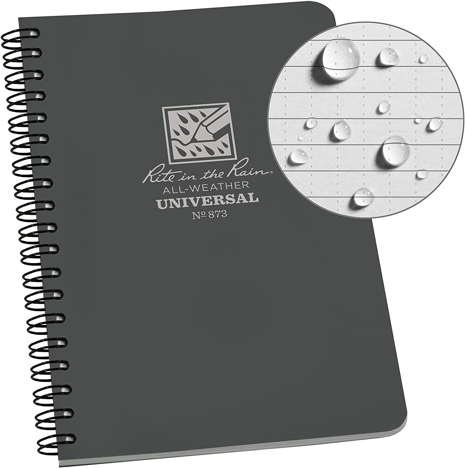 Rite in the Rain All-Weather Side-Spiral Notebook Gray