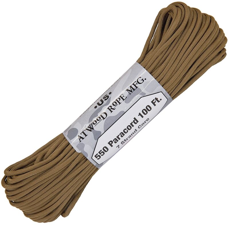 Atwood Rope - Dây Paracord 550lbs cuộn 30m màu Coyote