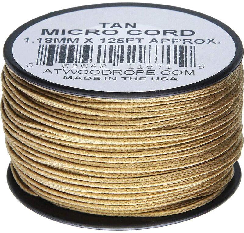 Atwood Rope - Dây Micro cord cuộn 38m màu Tan