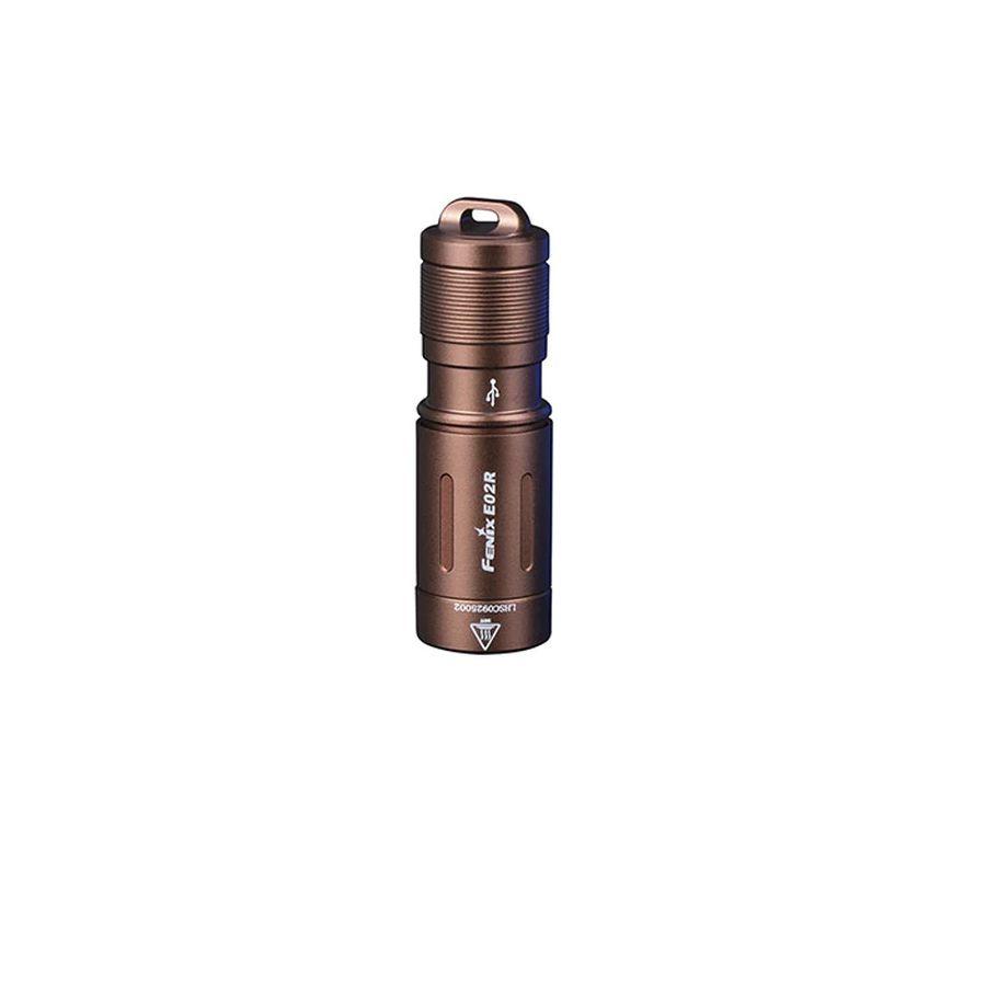 Đèn pin Fenix - E02R (nâu) - 200 Lumens