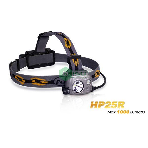 Đèn pin đội đầu Fenix - HP25R - 1000 Lumens (2 led : sáng trắng , trắng ngà)
