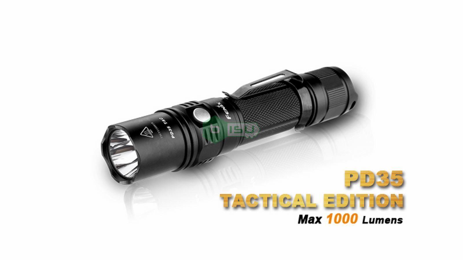 Đèn pin Fenix - PD35 Tactical - 1000 lumens (2015 Edition - Tặng kèm 01 Pin Fenix 18650 tích hợp sạc