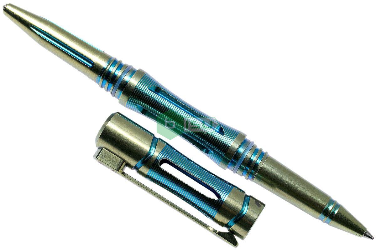 Bút Bi Fenix - T5Ti Halberd Titanium Tactical Pen (Storm Blue - Thân màu xanh lá pha nước biển - Có