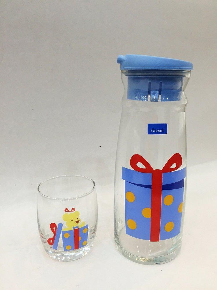 Bộ bình và cốc hình hộp quà