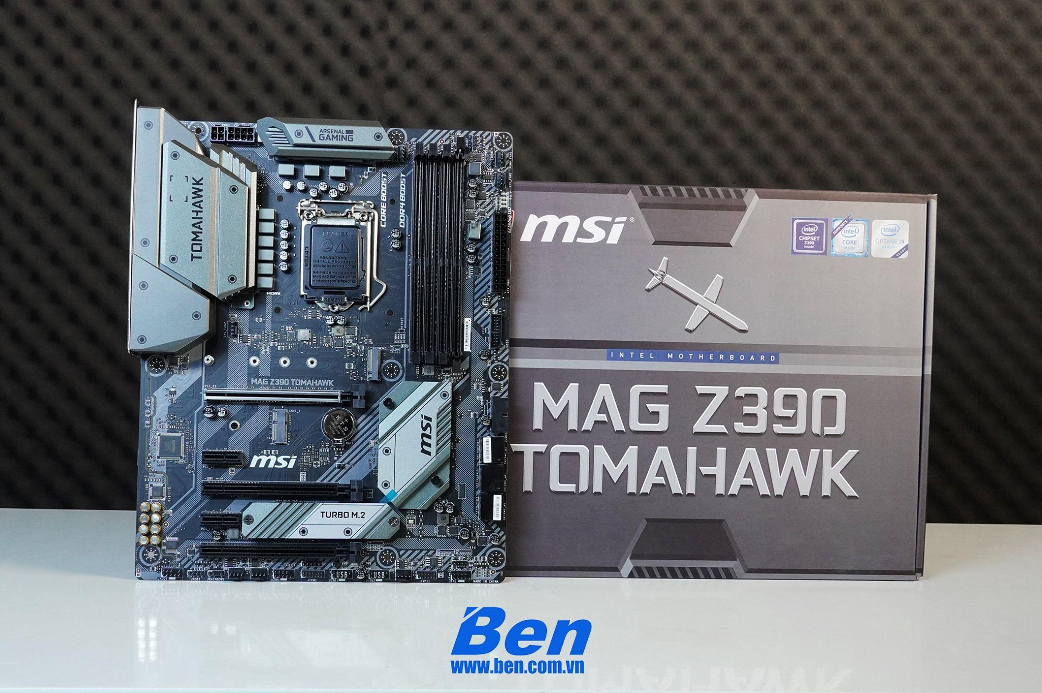 Unbox MSI MAG Z390 Tomahawk - Cảm hứng từ khí tài quân sự