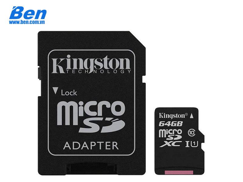 Thẻ nhớ Kingston 64GB MicroSDHC 80R UHS