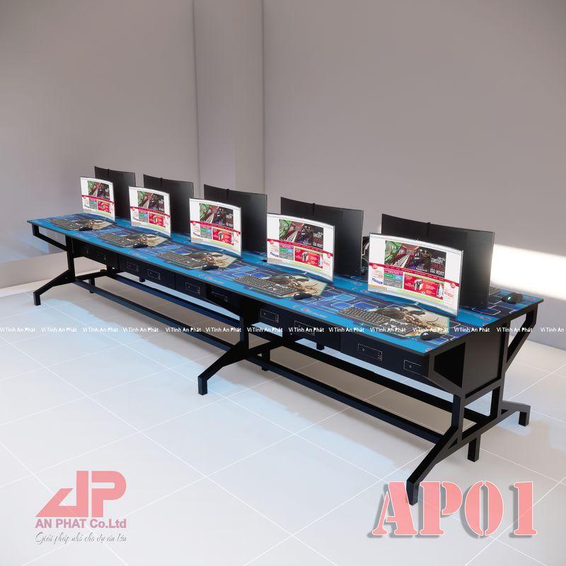 Bàn Phòng Game Net AP01 Hộp Dưới Mặt Phẳng