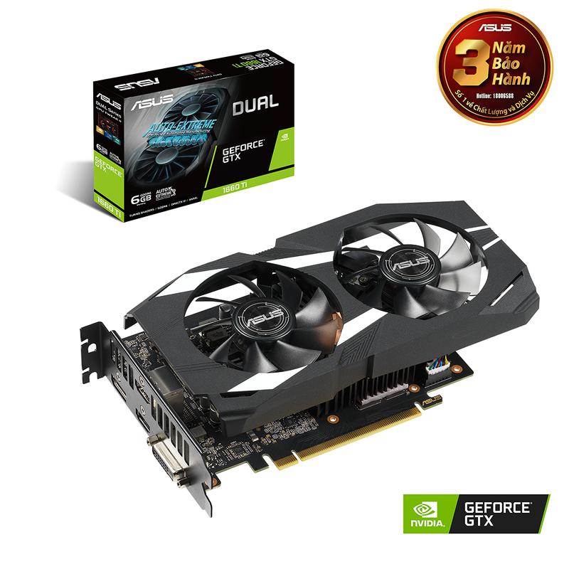 ASUS Dual GeForce® GTX 1660 Ti 6GB GDDR6