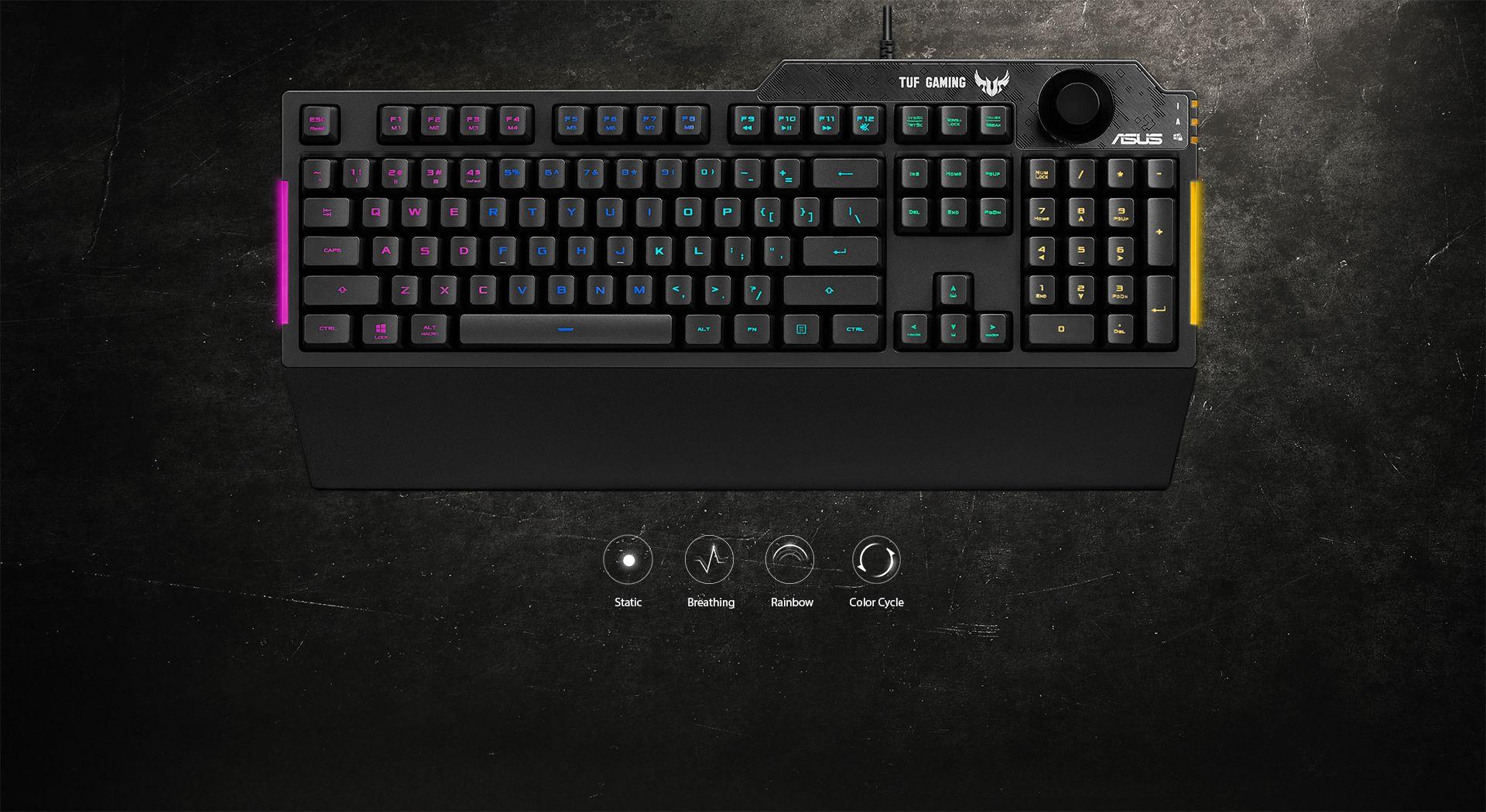 Bàn Phím ASUS TUF Gaming K1 RGB Chiến Mọi Game