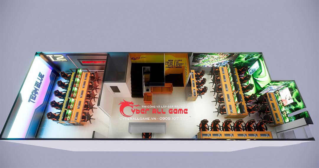 mô hình kinh doanh phòng game kết hợp cafe