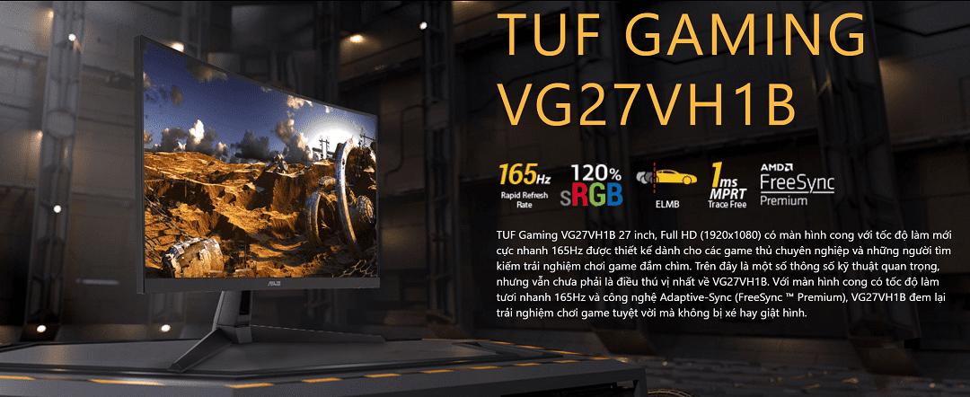 Màn Hình CONG Chuyên Game Asus TUF Gaming 27 inch 165Hz 1Ms