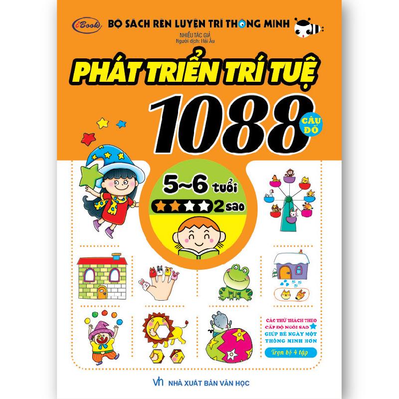 Sách Thiếu Nhi 1088 Câu Đố Phát Triển Trí Tuệ (5-6 tuổi) 2 sao