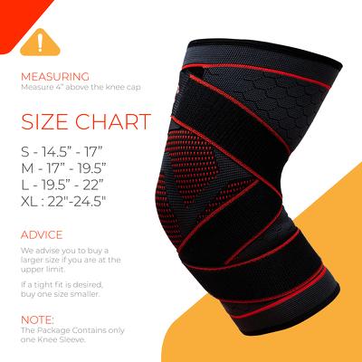 Bó gối giảm chấn thương - UFlex Athletics Knee Compression Sleeve with Straps