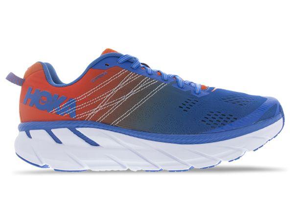 Giày chạy bộ Hoka Clifton 6 - MANDARIN RED / IMPERIAL BLUE